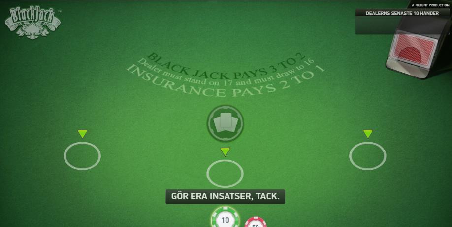 spela blackjack classic