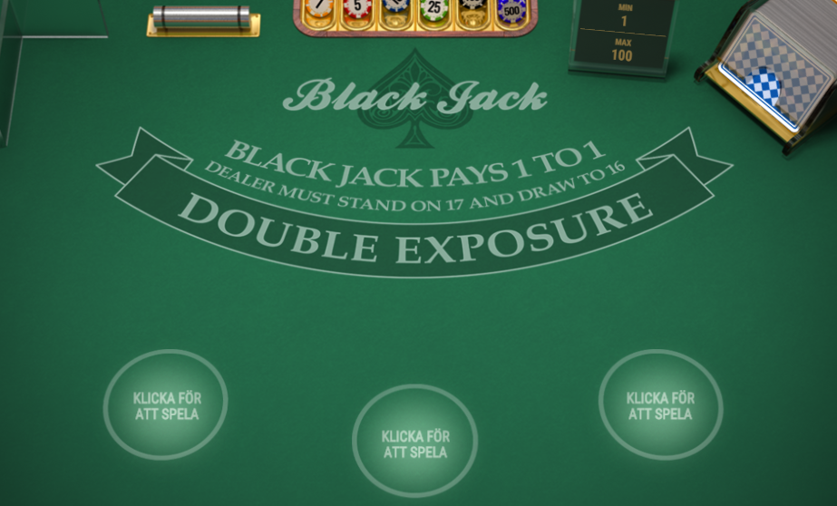 spela blackjack double